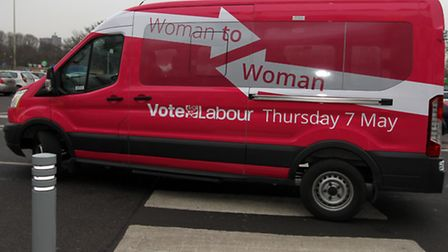 The use of a pink minibus has caused controversy. Email your views to news@thecomet.net.