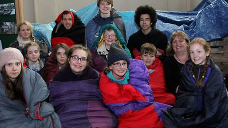 Eleven young people experienced what life is like living in slums at St Mary's Church.