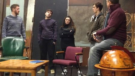 Rehearsals for 'Sherlock Holmes - The First Adventures' at Queen Mother Theatre, Hitchin