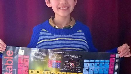 Max Emson is set to recite the periodic table to raise funds to hep combat Ebola.