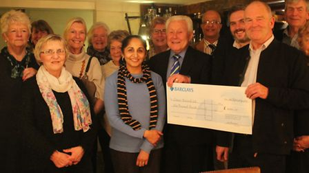 The Thaxted Branch of Cancer Research UK raised £9,000 for the charity. At the front, from right, Ia