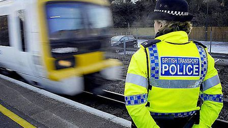 A member of the coastguard was called to help an injured police officer at a landlocked railway stat