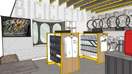 Bicicletta - Coffee con Velo will have a big screen for watching cycling, a cafe and a focus on cycl