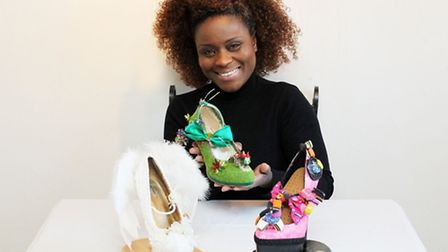 Milly J with some of her shoes