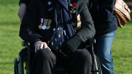 George Miller, president of Letchworth Royal British Legion, with his daughter, Jackie Miller