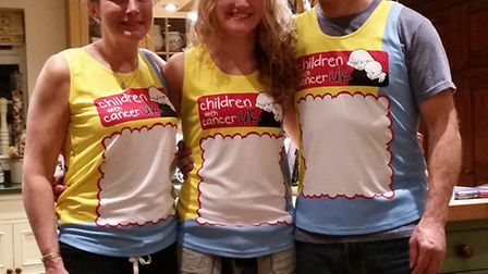 The de Woolf family: Rosie, Maisie and Stuart are running this year's London Marathon.