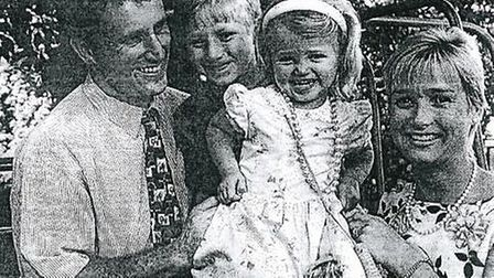 Stuart and Rosie de Wolf with a young Maisie and brother Jack in the Comet in 1997.