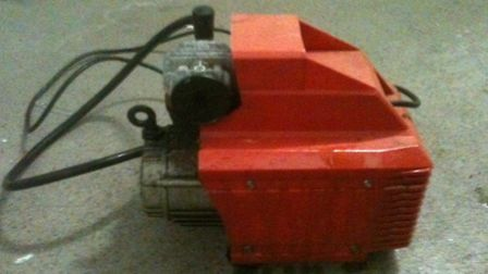This electronic compressor has been recovered and is believed to have been stolen from sheds in Bald