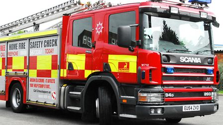 Two fire engines attended the scene
