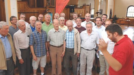 City Chorus held a singing workshop for men in Letchworth Free Church on Saturday, led by musical di