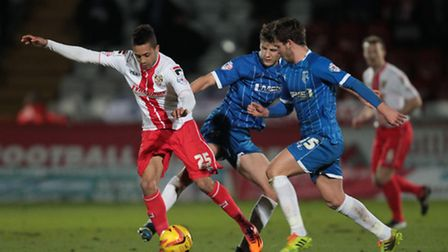Bruno Andrade in action for Stevenage