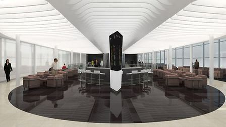 The design concept for the development of Satellite One, one of three departure areas at Stansted Ai