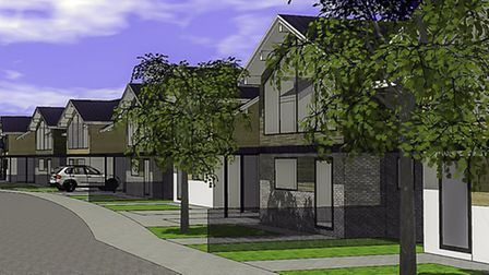 Plans showing the proposed housing development in Lucas Lane.