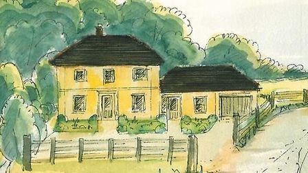An artist's impression of what the new rectory would look like.