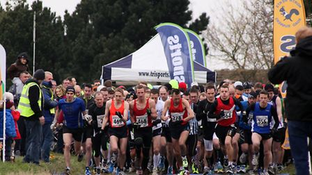 Runners at the start line of the Baldock Beast Half Marathon 2013. Picture by Inner-Visions Photogra