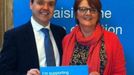 Stevenage MP Stephen McPartland and heart lung transplant patient Kath Graham are adding their voice