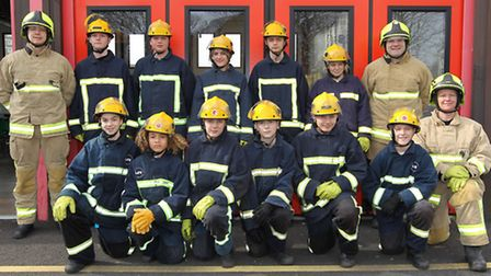 The children on the Life course pass out in front of friends and family at Stevenage fire station