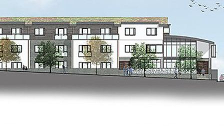 An artist's impression of the new Reynolds Court sheltered housing scheme in Newport.