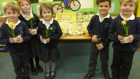 Reception pupils at Clavering Primary School have been taking part in the Marie Curie Cancer Care Mi