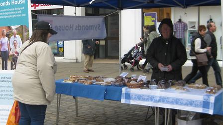 Hitchin Market Place fundraiser organised by The Friends of Symonds House – a group of volunteers su