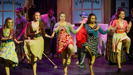 The Senior Drama Academy performing the Little Shop of Horrors at the Gordon Craig Theatre. A differ