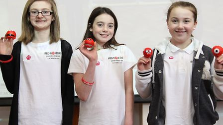 Giles Junior School pupils Lexi Howard, Amy Wenderling and Molly Heaps took part in a 25-hour dance