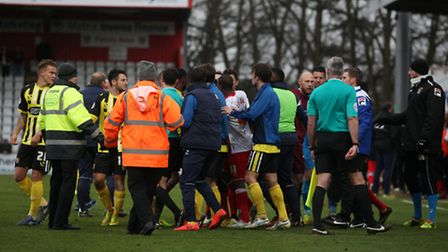 Stevenage and Dagenham earlier this month. Photo: Harry Hubbard