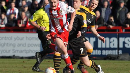 Ben Kennedy in action against Newport County earlier this month. Photo: Danny Loo