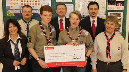 The town's Santander branch matched the donations raised by Saffron Walden Explorers, with a total o