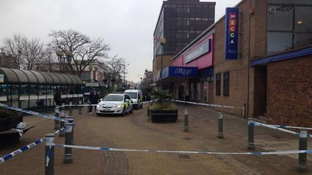 Part of Stevenage town centre has been cordoned off by police after an 'altercation' last night.