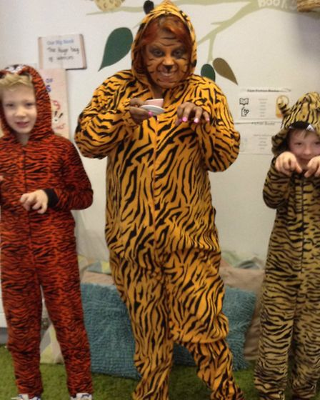 Woolenwick Infant & Nursery School World Book Day 2015. The Tiger who came to Tea: Ronnie Ward, Year