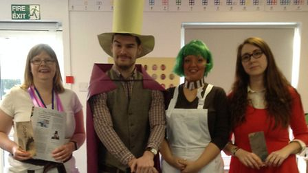 Woolenwick Infant & Nursery School World Book Day 2015. From Charlie & the Chocolate Factory: Teachi