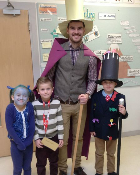 Woolenwick Infant & Nursery School World Book Day 2015. From Charlie & the Chocolate Factory: Keira