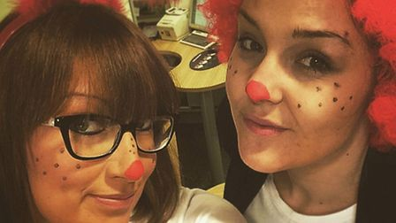 Specsavers Hitchin Comic Relief fundraisers Stephanie Rich and Eve Binks