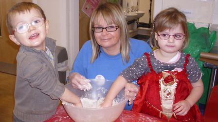 Youngsters at Clavering and Arkesden pre-school made wholemeal rolls from scratch last week.
