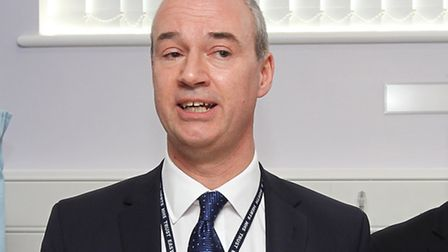 Chief executive of East and North Herts NHS Nick Carver at the opening of the new emergency departme