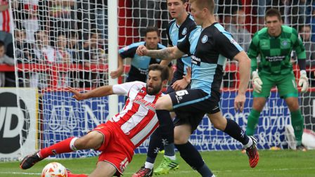 Dean Wells in action for Boro earlier this season