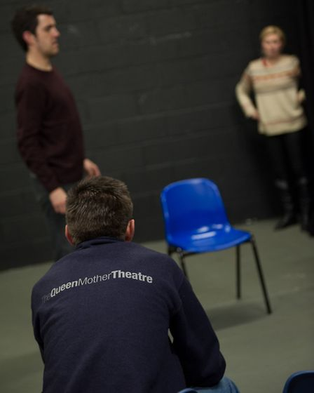 Rehearals for Bancroft Players production of The Last Of The Haussmans