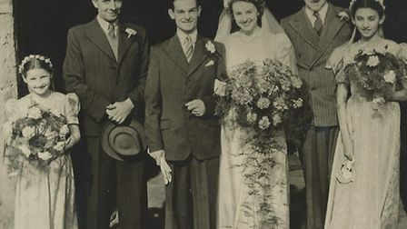 Robert Williams married Pearl Glasscock at St Mary's Church, Ashwell, on February 18, 1950.