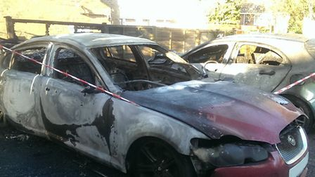 Firefighters were called to a communal car park in Shrublands, Saffron Walden, where they discovered