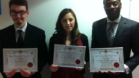 Outstanding young people presented with awards at North Herts District Council civic reception inclu
