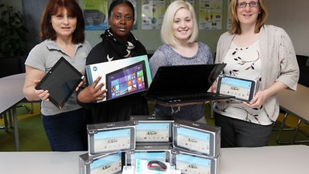 Lynda Papworth, Yvette Richards, Amelia Otto and Nicola Price from North Hertfordshire Homes show of