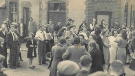 Celebrations for VE Day went on for two days in Albert Street, Stevenage in 1945. Photos belong to P
