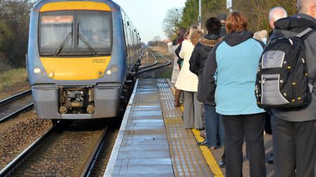 A man was pronounced dead after being hit by a train near Bishop's Stortford this morning (Tuesday).