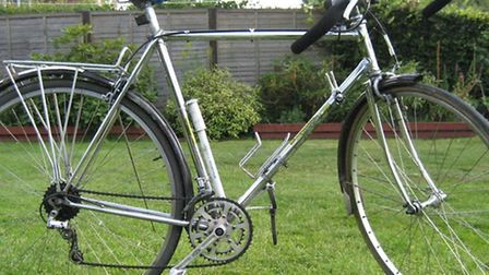 This men's chrome Carlton Standard racing bike was stolen from the side entrance of a house in Bower