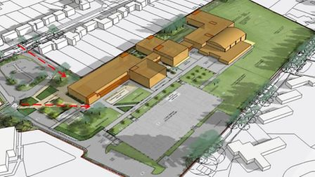 An artist's impression of what the redeveloped Highfield School will look like.