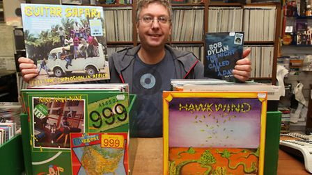 Andy Oaten owner of the record shop