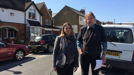 Lucy Lord from Putterills Estate Agent and Jeff Jackson from Jacksons Garage in Milestone Road.