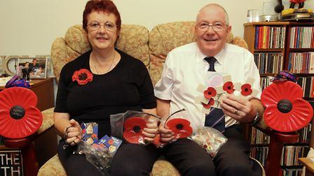 Stevenage Poppy Appeal organiser Richard Mott, pictured with his wife Pat, has condemned The Range's