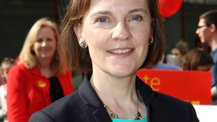 Ed Miliband's wife Justine joined leader of Stevenage council and labour candidate cllr Sharon Taylo